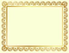 """Geographics Medallion Certificates, Gold Foil, 8.5"""" x 11"""", 15/Pack (47830)"""