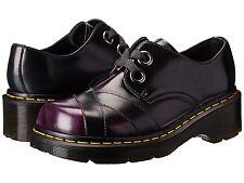 Dr. Martens Sylwia 2-Eye Bandage Toe Shoe Purple Navy Green US 5 EU 36 UK 3