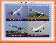 Chad 2018 MNH Concorde 4v M/S Airplanes Aviation Stamps