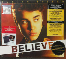 JUSTIN BIEBER Believe 2012 MALAYSIA DELUXE DIGIPAK CD + DVD SET RARE NEW SEALED