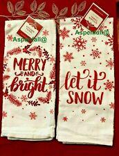 SALE! ❄️ Merry & Bright ~ Let It Snow ~ Kitchen Set Dish Towels