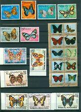 Schönes  Lot Motivmarken  , o , Schmetterlinge