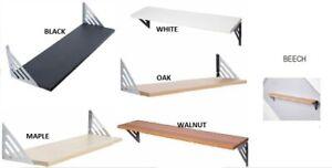 Wood Floating Shelf Kit Wall Mounted CD STORAGE & BOOK ORGANISE AVON SHELF
