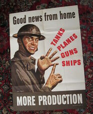 original WWII poster soldier counting weapons Good News From Home