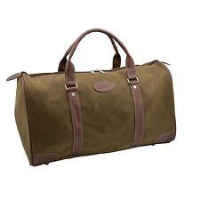 Mens Travel Bag Holdall Weekend Overnight Leather Look Duffle Brown Medium