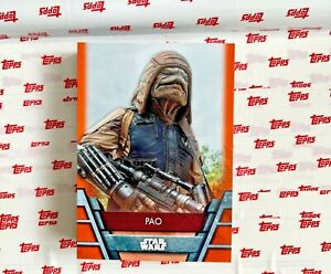 2020 TOPPS STAR WARS HOLOCRON ORANGE PARALLEL CARD 40/99 PAO #REB-31