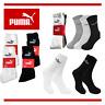 PUMA Socken Strümpfe Baumwolle Freizeitsocken Tennis Unisex 3/6/9/12 Paar Crew