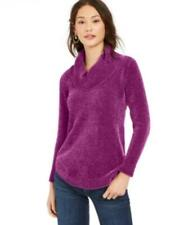 MSRP $60 Style & Co Chenille Cowlneck Tunic Purple Size 2XL