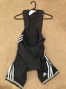 Adidas Cycling Bike Bib Shorts Sz S Black.