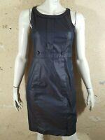 PAULE KA Taille 38 Superbe robe tissu moiré marron noir coton mélangé  dress