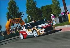 Dani SORDO Signed 12x8 Photo Autograph AFTAL COA Citroen Total  DS3 WRC SPAIN