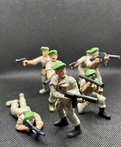 VINTAGE 1987 MATTEL GUTS (G.U.T.S) ARMY GREEN BERETS AMBUSH FIGHTING MEN LOT!!!