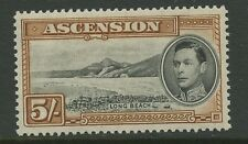 Ascension Island SG46 1938 5s black & yellow brown P13.5