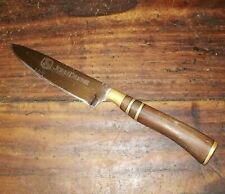 VINTAGE RARE GAUCHO JOHN DEERE ARGENTINA KNIFE STEEL BRONZE WOOD ADVERTISING