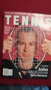 John McEnroe Autographed TENNIS magazine, November 2002