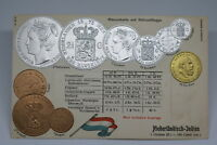 NETHERLANDS INDIES c. 1900 COLOURED PC WITH COINS PICTURE UNIQUE & VERY RARE A75