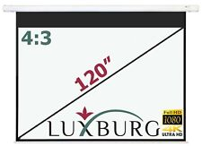 """Luxburg® 120"""" 244x183 cm Full HD Electric Motorised Projector Projection Screen"""