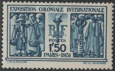 "FRANCE STAMP YVERT 274 SCOTT 262 "" FRENCH COLONIALS 1F50 BLUE 1930 ""MNH VVF C806"