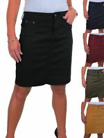 ICE Womens Stretch Jeans Skirt Mini Above Knee Length 8-16