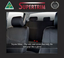 Premium Neoprene Front Full-back Map Pockets Rear Seat Cover Fits Toyota HILUX