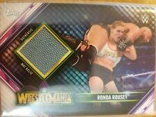 2019 Topps WWE Road to Wrestlemania Ronda Rousey Authentic Mat Relic
