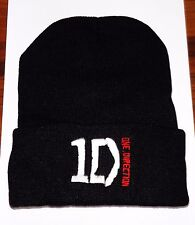 One Direction Beanie Noir Tricot Cool Unisexe Harry Niall Liam Louis Zayn 1D