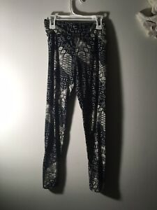 Lularoe OS Leggings UNWORN PRISTINE Grey Geometric Print Athleticwear