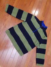 Mini boden boys 7-8 Pullover Blue Green Stripe Outerwear Jacket Coat 7 8 Boy