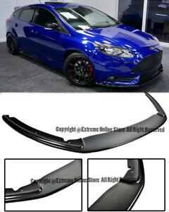 For 12-14 Ford Focus ST Carbon Fiber Add On Splitter Front Lower Bumper Lip New