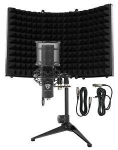 Rockville RCM PRO Studio/Recording Podcast Condenser Microphone+Isolation Shield