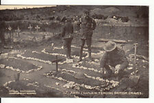 "WW1 Army Chaplain tending British graves ""Daily Mail"" War Pictures"