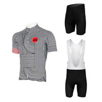 Mens Team Cycling Short Kit Novelty Bike Jersey & (Bib) Shorts Coolmax Set S-5XL