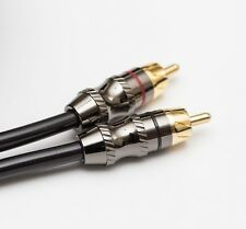 PREMIUM 3 FOOT 2 CHANNEL RCA CABLE ZINC HEADS PHONO LEADS AMAZING QUALITY