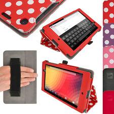 Rot PU Leder Tasche Hülle Case für Neue Google Nexus 7 FHD 2. Gen August 2013