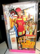 Barbie & Kelly    McDonald's Fun Time    2001 mattel & golden Arches collector