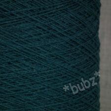 Pura Lana Shetland Tejer 3 capas profundas Petrol 500g Cono 10 bolas de hilo verde azul