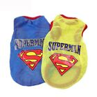 Superman Small Dog Vest Mesh Breathable Puppy T shirts Summer Dog Clothes