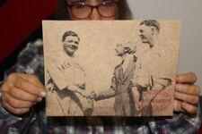 Vintage 1930's Babe Ruth Louisville Slugger Baseball Bat Promo Sign