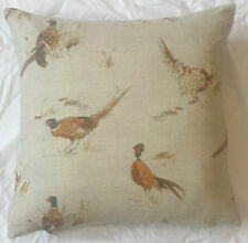 Pheasants 100% Cotton Cushion Cover Pillow Case 43cm Ideal Gift UK MADE