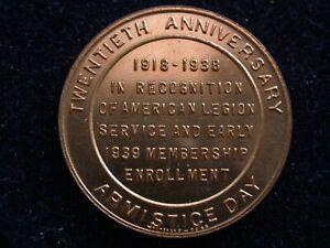 American Legion 1918-1988 Twentieth Anniversary Armistice Day Medal