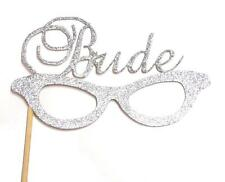 Photo Booth Props - Glitter Silver Bride Glasses Photo Booth Props x 1PC