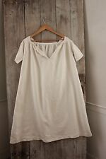 Linen French chemise nightdress CHILD's nightgown gown c 1860 clothing Batiste