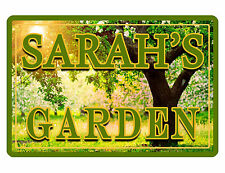 """PERSONALIZED GARDEN SIGN """"YOUR NAME"""" Beautiful COLOR Gloss ALUMINUM sign TREE 55"""