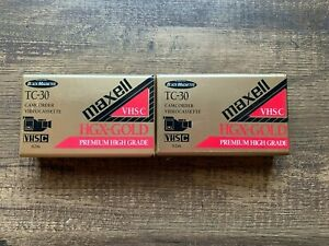 Maxwell Camcorder Videocassette HGX GOLD TC-30 Premium High Grade VHS-C LOT OF 2