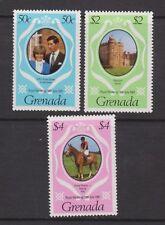 1981 Royal Wedding Charles & Diana MNH Stamp Set Grenada SG 1130-1132