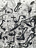 "DDR-Kunst. ""Zu C.v.O."", 1988. Radierung Andreas DRESS (1943-2019 D) handsigniert"