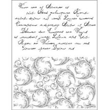 Tampons transparents Viva TEXTE FLORENTINS scrapbooking carterie clear stamps