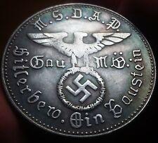 German Reichs Kanzler Kampfspende Silvered Bronze Medal Germany Exonumia Token