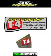 PRO CIRCUIT T4 T-4 LARGE STICKER & END CAP KIT EXHAUST REPLACEMENT STICKER DECAL