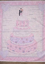 Wedding Day for Hancock Fabrics Cake Panel Cotton Fabric  BTP  (M4) +